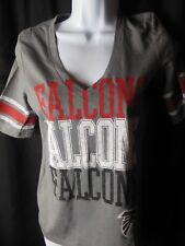 Atlanta Falcons Women's NFL Team Apparel Stone Wash V Neck Tee Shirt