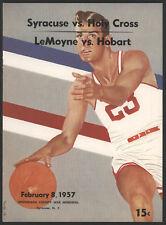 1957 College Basketball Double-Header Pgm, Syracuse, NY