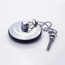 Silver/Gold/Antique Bath Plug with Chain 40-60mm Bathtub Basin Sink Drain Parts