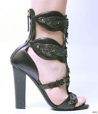 new $1300 GIUSEPPE ZANOTTI for BALMAIN open-toe T-strap GLADIATOR shoes 38.5 8.5