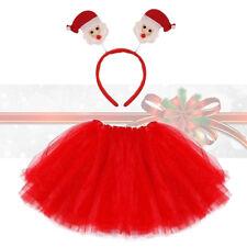Girls Ladies Christmas Santa Tutu Dress Costume Fancy Dress Party Headbopper