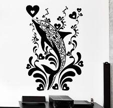 Wall Decal Dolphin Ocean Marine Ornament Tribal Mural Vinyl Decal (z3180)