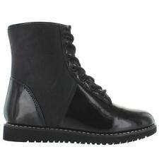 YRU Monkey - Black Patent Combat Boot