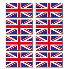 8 X Brillantes Pegatinas De Vinilo-Union Jack Reino Unido pequeña bandera pegatina Casco De Bicicleta # 0064