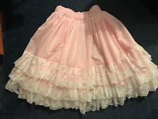 Ladies Amanda Built up Shoulder Full Slip//Petticoat Lace Top Cream Size 26