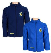 Minions Azul Unisex / Niño Top Polar Chaqueta Cálida abrigos Cremallera Edad