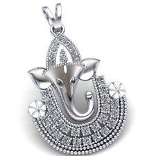 0.5ct Round Brilliant Cut Diamond Ladies Lord Ganesha Religious Pendant 10K Gold
