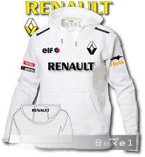 FELPA CON CAPPUCCIO STAMPATA RENAULT RACING ELF SPORT AUTO MOTO TEAM ONE COL N