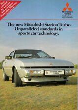 Mitsubishi Starion 2000 Turbo 1984-86 UK Market Sales Brochure