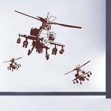 Equipo Apache Pared Arte Pegatinas Niños Pegatinas de pared calcomanías de helicóptero -.D188