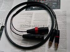 L+R HIFI Copper XLR Female To RCA Male Audio Cable analog wire