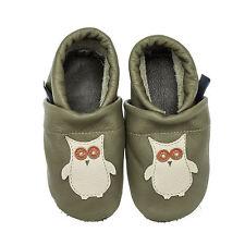 pantau.eu Kinder Lederpuschen Lauflernschuhe Babyschuhe Krabbelschuhe mit Eule