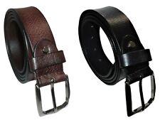 robusta fibbia d/'argento Uomo Nero Cintura in pelle disegnata da Milano