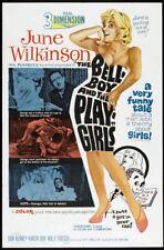 PLAYGIRLS orig 60s SEXPLOITATION 3D os JUNE WILKINSON one sheet movie poster