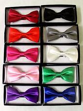 Mens Bow Ties Formal / Wedding / Tuxedo / Pre-tied / Plain Colours Bux Tie