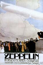 ZEPPELIN GERMAN AIRSHIP FLIGHT DEUTSCH BOHMEN SCHAUFLUG VINTAGE POSTER REPRO