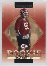 2002 Donruss #281 Ryan Sims Kansas City Chiefs RC Rookie Football Card