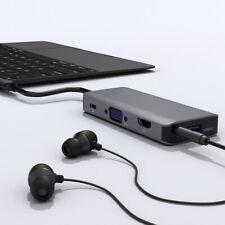 9 in 1 Type Usb C Hub For PC MACBOOK MICROSOFT SURFACE 4K*HDMI SD/TF 3*USB3.0 QK