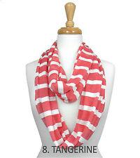 Womens Spring summer Fashion Stripe Infinity loop Scarf - New
