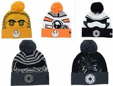 STAR WARS NEW ERA Knit Force Awakens Beanie Galactic Biggie Winter Pom Cap Hat