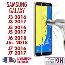Galaxy J3/J5/J6/J7 2016/17/18 vitre protection verre trempé d'écran Samsung J6+