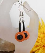 Hübsche Ohrhänger Perlmutt Ringe Farbwahl orange blau oder gelb