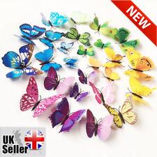 12 PCS/LOT PVC 3D Papillons Autocollants Muraux décors