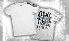 Staffordshire Bullterrier T-Shirt Pitbull Staffbull streetwear weiss S-5XL