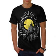 Luna en la ciudad Nueva Camiseta Hombres   wellcoda