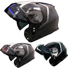 LEO-888 Modular Flip Up LEOPARD Motorbike Motorcycle Helmet MOPED W/ Sun Visor