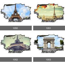 Skyline Parigi città torre eiffel 3d Arte Murale Parete PHOTO CARTA DA PARATI WALL STICKERS