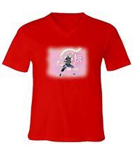 Naruto Sakura Haruno Men Women Unisex V-Neck Short Sleeve Top Tee T-Shirt