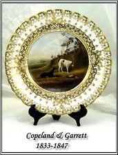 Museum! Hand Painted Gilt Copeland & Garrett Plate 1833