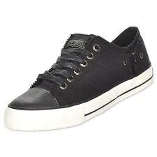 LEVIS 535074-01A ZIP EX LO CANVAS Jrs (M) Black Canvas Lifestyle Shoes