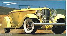 DUESENBERG MODEL J SPEC SHEET / Brochure / Catalog: 1928,1929,1930,1931,......