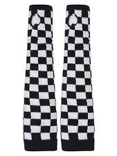 Checkered Thumb Free Finger Long Gloves
