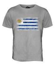 URUGUAY DISTRESSED FLAG MENS T-SHIRT TOP REPUBLICA ORIENTAL DEL URUGUAYAN