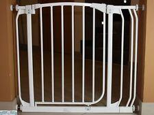Türschutzgitter / Treppenschutzgitter aus Metall 72,5 - 137,5 cm Autoclose weiss