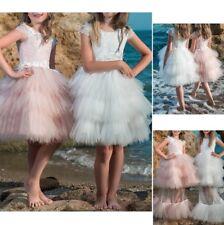 Vestito Bambina Abito Cerimonia Comunione Lungo e Corto Girl Party Dress CDR075