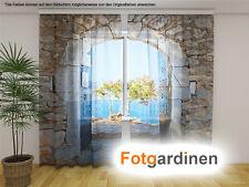 """Fotogardinen aus Chiffon """"Gewölbe"""" Vorhang mit Motiv, Fotodruck, nach Maß"""