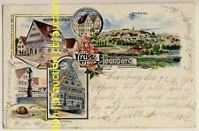 LEONBERG Gasthaus Hirsch * Künstler-AK u 1900 G. Fabié