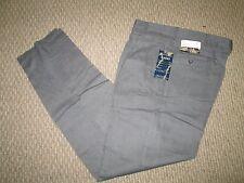 Manhattan Men's Gray Pleated Pants UNHEMMED 28 29 30 31 32 34 36 38 40 42 NEW