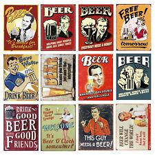 Signo de Metal Cerveza Gracioso Retro Vintage pub Cueva de hombre cobertizo de cocina