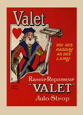 Fashion Man Shaving Valet Razor France French Vintage Poster Repro FREE S/H
