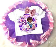 Doc McStuffins 3rd Third 3 Year Old Baby birthday Tutu Shirt Headband Outfit