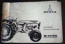 Deutz Fahr Schlepper D4505 Ersatzteilliste