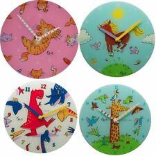 Nextime Character Horse / Giraffe / Cat Character 30cm Glass Wall Clock