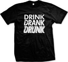 Drink Drank Drunk Shenanigans Funny Humor Blurry Vision Joke Memory Mens T-shirt