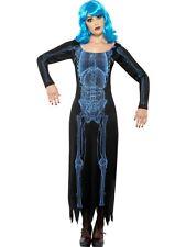 Costume Halloween Carnevale Donna Abito Raggi X Fluo *18671