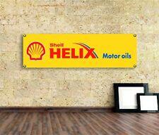Shell Helix  Sign Vinyl Banner Flag  Garage Workshop Adversting Many Size